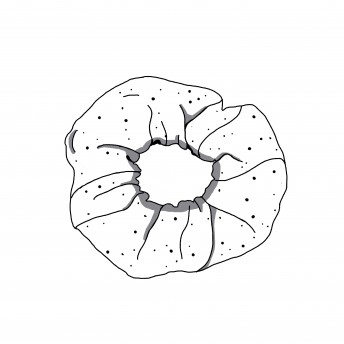 "Scrunchie ""Kwiaty jak żywe"""