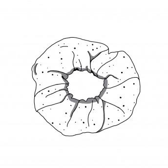 "Scrunchie ""Grey roses"""